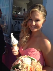Suzanne Riley Marriage Celebrant icecream van at hmas brisbane at alexandra headland sunshine coast wedding